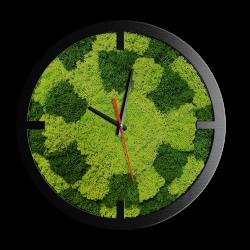 Годинник з мохом дизайнерський А04 / Диаметр 25 см