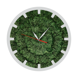 Годинник з мохом дизайнерський А07 / Диаметр 25 см